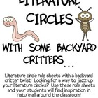 Literature Circles Packet...With Some Backyard Critters!