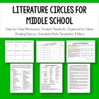 Literature Circles for Middle School: Common Core Aligned