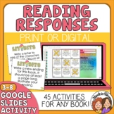 Literature Response ACTIVITY Cards for Any Book! 45 Activities!