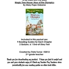 Literature Unit for Magic Tree House: Hour of the Olympics