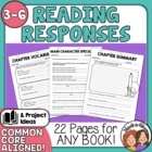 Reading Response Printables to Use with Any Book! CCSS Aligned