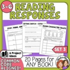 Literature Worksheets (3), 18 Ready to Use Pages for Any Book