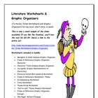 Literature Worksheets &amp; Graphic Organizers Freebie