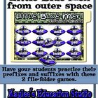Little Blue Men From Space: Prefix and Suffix File-Folder Games