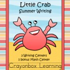 Little Crab - Summer Writing Activities - Common Core