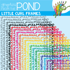 Little Curls Borders / Frames - Commercial Use Graphics