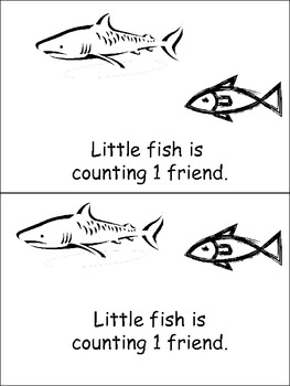 Little Fish is Counting Emergent Reader- Preschool-Kinderg