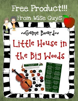 Little House in the Big Woods Game Board Reading Activity (FREE)
