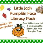 Little Jack Pumpkin Face Literacy Packet
