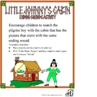 Little Johnny's Cabin--Ending Sounds Activity