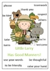Little Larry has Good Manners - Social Skills Poster - 1 page