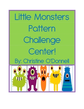 Little Monsters Pattern Challenge Center