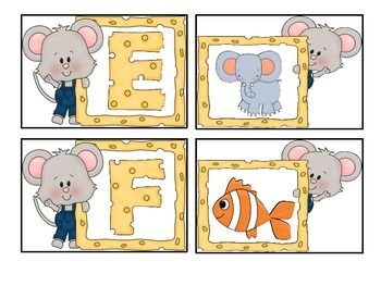 Little Mouse Alphabet Match-Up