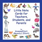 Little Note Cards for Teachers, Students, and Parents