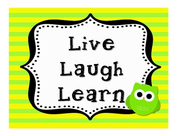 Live Laugh Learn Classroom Signs