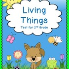 Living Things - Science Test for 2nd Grade