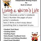 Living a Writer's Life Independent Writing Project - Back