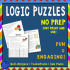 Logic Puzzles, Critical Thinking Skills Packet