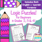 Logic Puzzles For Beginners!  Set of 5  Great For Critical