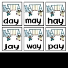 Long A {ai &amp; ay} Decodable Word Game