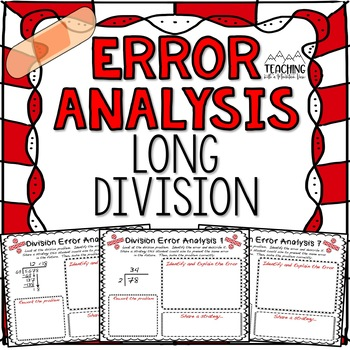 Long Division Error Analysis  { Division Center, Enrichment, or Assessment }