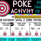 Long Division Poke Activity! PERFECT FOR CENTERS