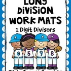 Long Division Work Mats 1 Digit Divisors
