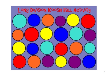 Long Division on the SMARTboard with a Koosh Ball