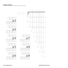 Long Division teaching template