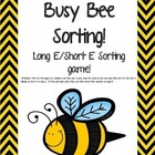 Long E Busy Bee sorting game