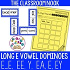 Long E Dominoes Game with Recording Sheet (ee, e_e, ey, y,