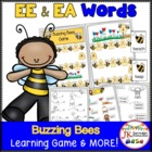 Long E Phonics Game-Buzzing Bees (with Common Core Connections)