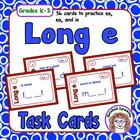 Long E Task Cards: 36 cards to practice ee, ea, and ie