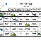 "Long O ""Oh No Toad!"" board game"