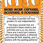 Long O Word Work Centers, Activities, and Posters