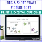 Long &amp; Short Vowel Sort
