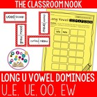 Long U Dominoes with Recording Sheet (ue, u_e, oo, ew)