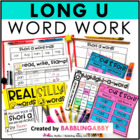 Long U Word Work Activities