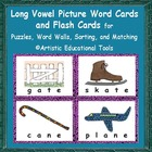 Long Vowel Picture Word Cards for Word Walls and Puzzles a