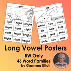Long Vowel Rhyming Word Family Posters - 43 word families