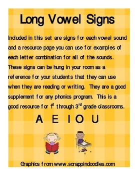 Long Vowel Sound Signs