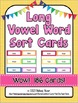 Long Vowel Sounds - 186 Word Sort Cards