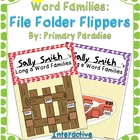 Long Vowel Word Families: File Folder Flippers