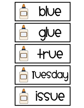 Long Vowel Word Sort {Long U}