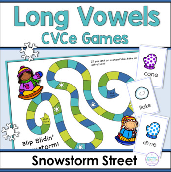 Long Vowels: Snowstorm Street Game