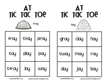 Long Vowels Tic Tac Toe