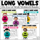 Long Vowels Word Work Activities Bundle