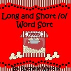 Long and Short O Popcorn Word Sort