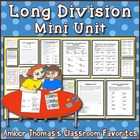 Long division mini unit lesson plans, activities and worksheets