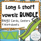 Long vs Short Vowels BUNDLE (BINGO Game Cards & Practice W